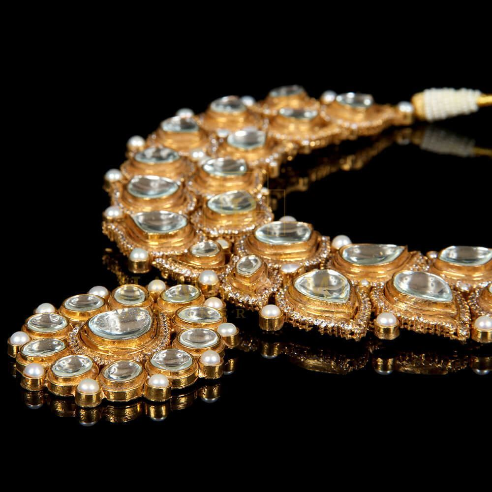 Picture of Gold plated kundan set