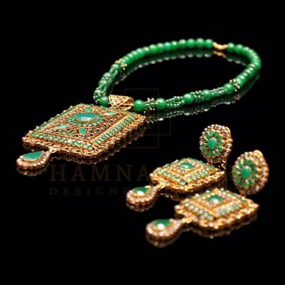 Picture of Emerald pendant set