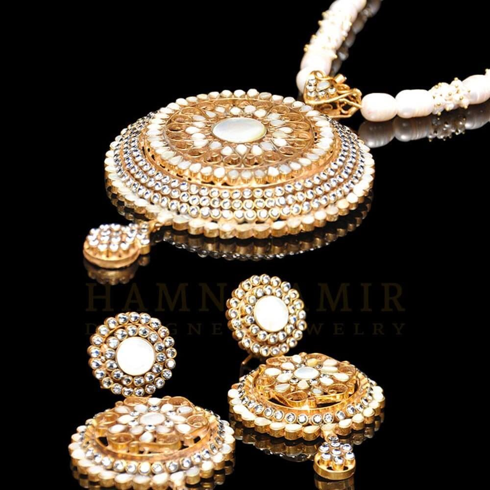 Picture of Mother of pearl pendant set