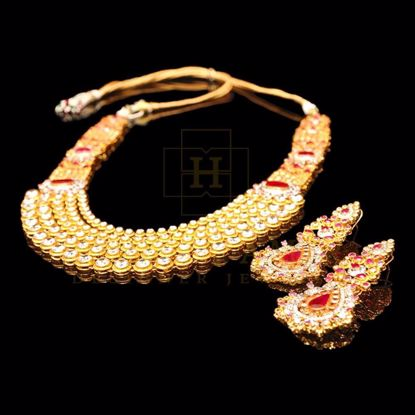 Picture of Ruby and zircon bridal set