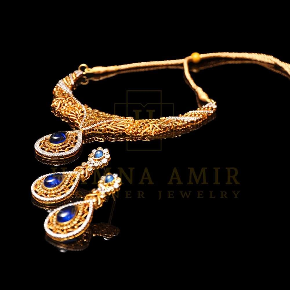 Picture of Lapis lazuli bridal set