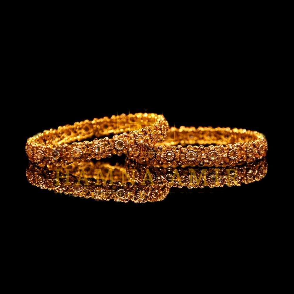 Picture of Champagne American zircon bangle pair