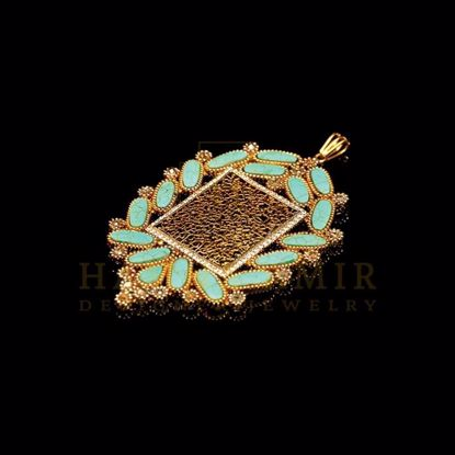 Picture of Feroza calligraphy pendant