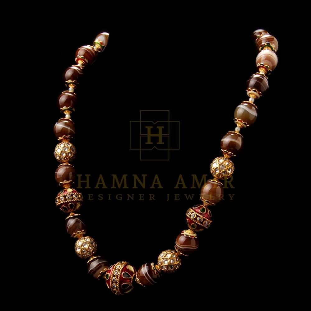 Picture of Chunky mala with earrings