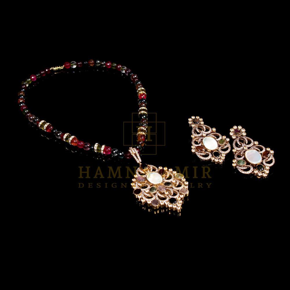 Picture of Tourmaline pendant set