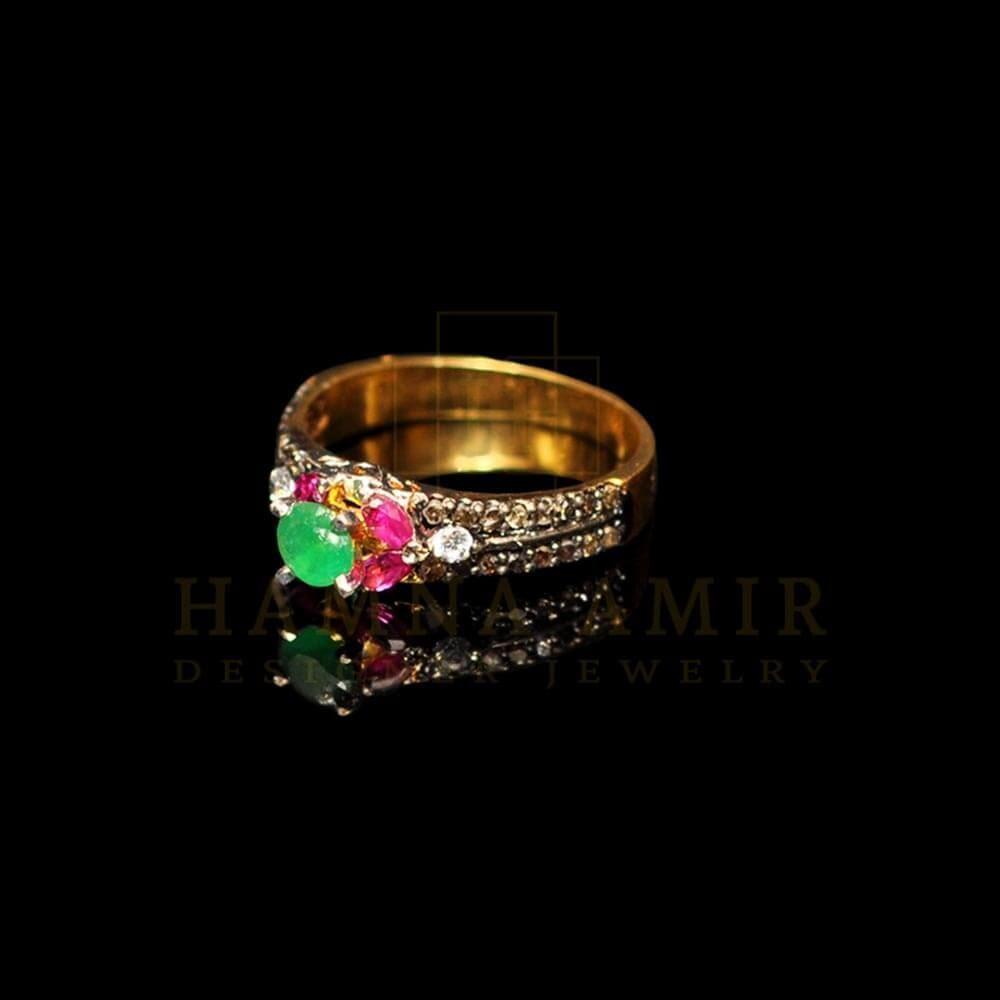 Picture of Multi-stone polki ring