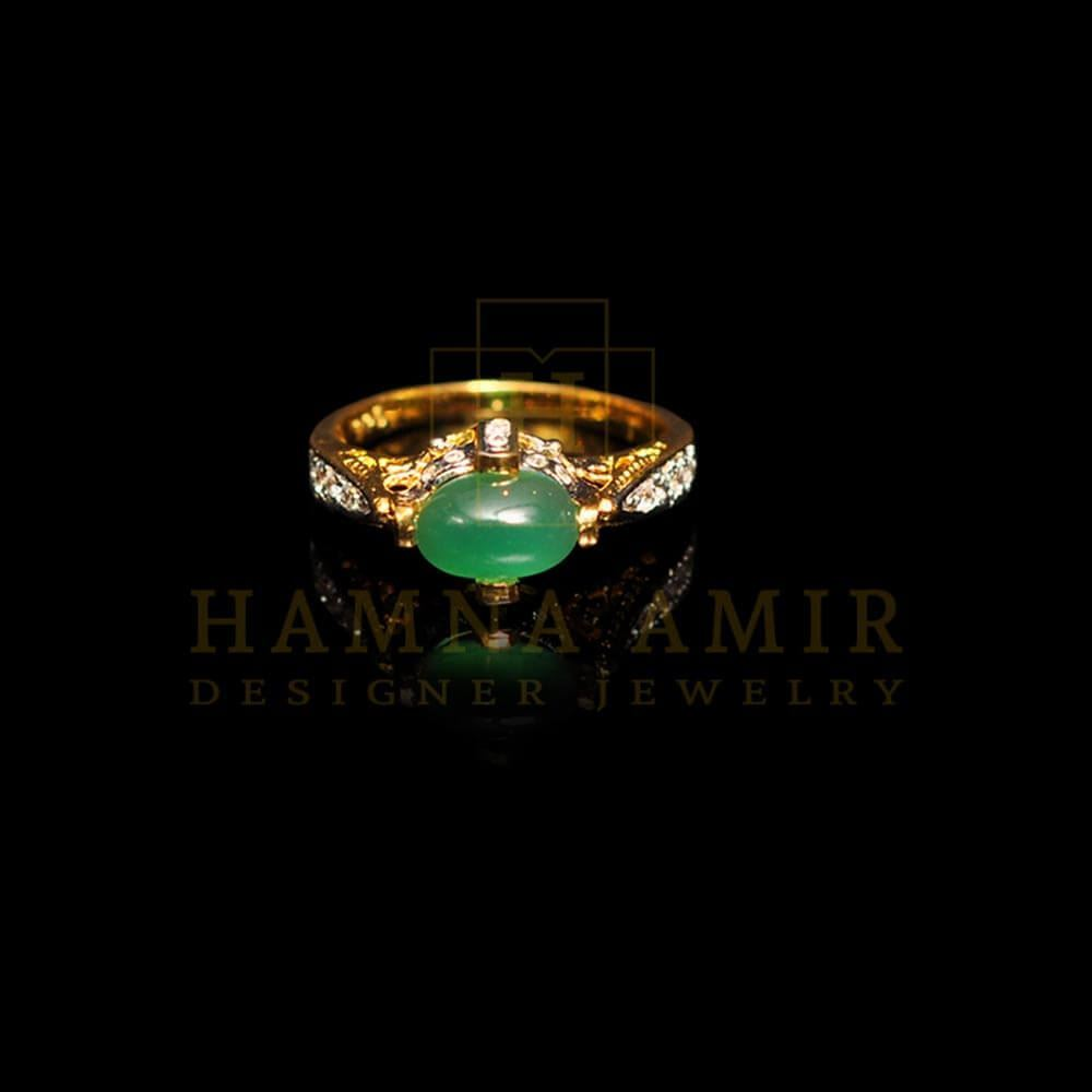 Picture of Emerald zircon ring (b)