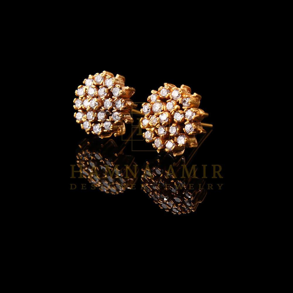 Picture of Gold plated zircon earrings