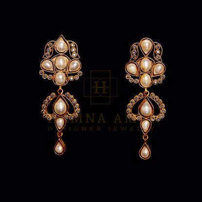 Picture of Pearls and zircon earring