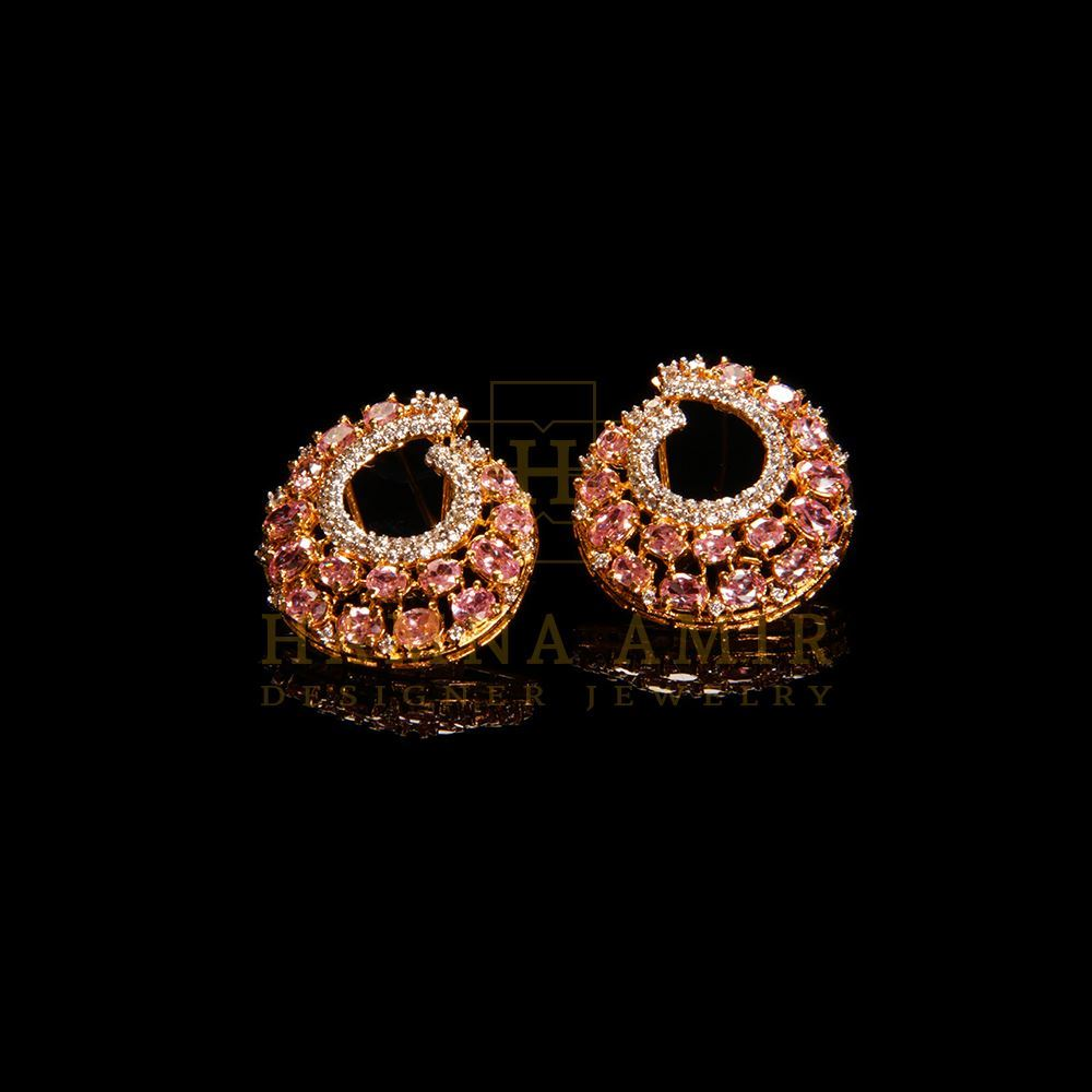 Picture of Pink zircon earrings