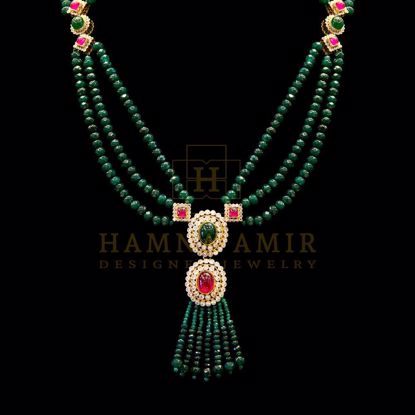 Picture of Emerald ruby mala