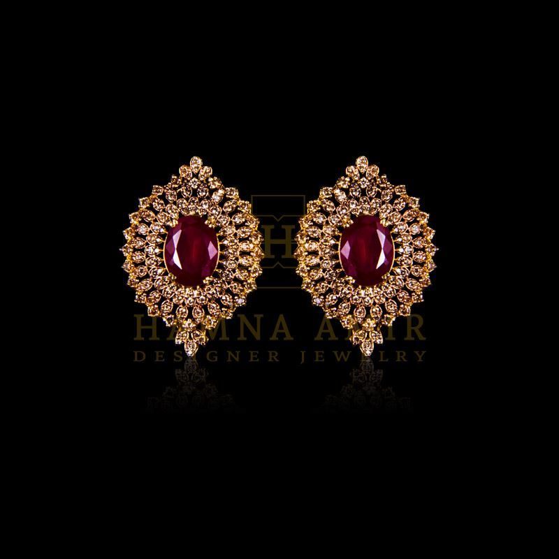 Picture of Ruby polki and zircon tops