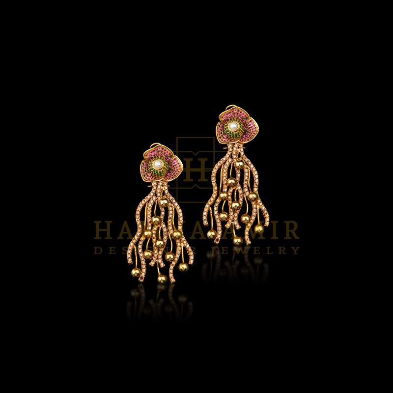 Picture of Ruby emerald earring