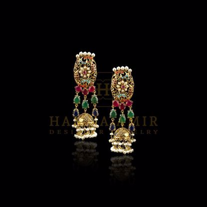Picture of Nauratan bridal multilayered earrings