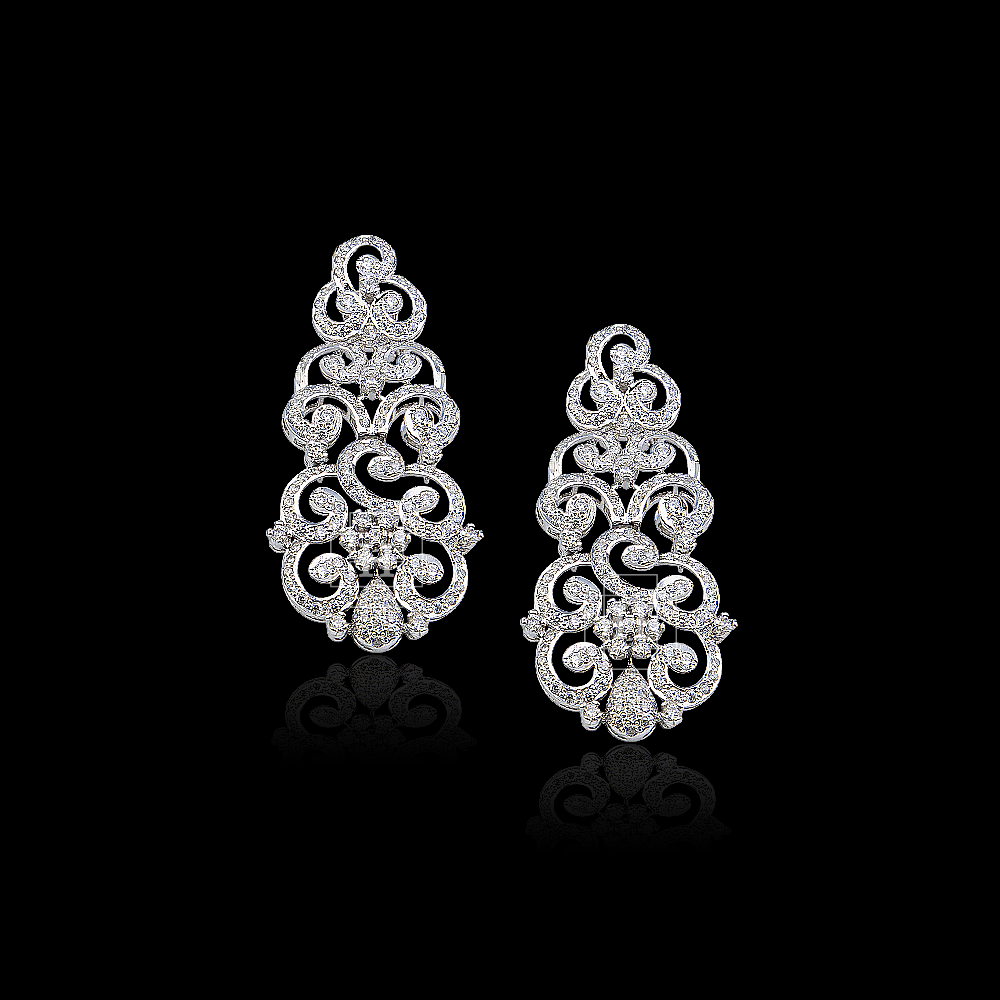 Picture of American zircon earrings