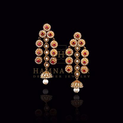Picture of Zircon and cultured pearl earrings