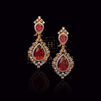 Picture of Vintage macedonian ruby earrings