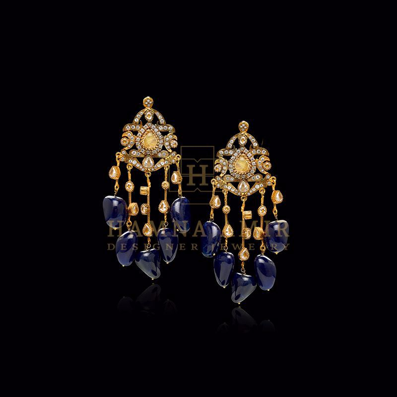 Picture of Carved sapphire earrings