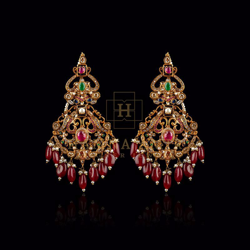 Picture of Ruby and emerald earrings