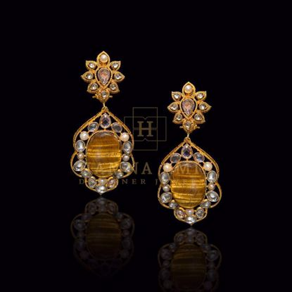 Picture of Tiger's eye studded earrings