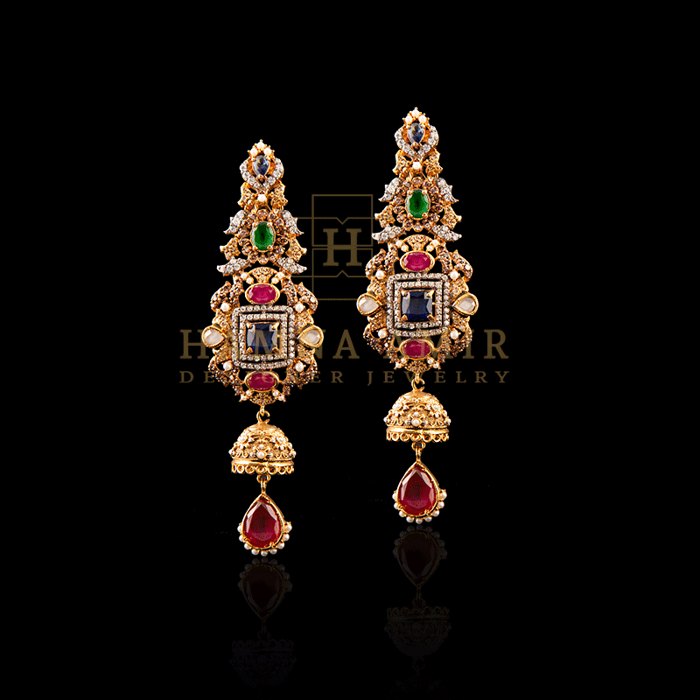 Handcrafted in rubies bridal set