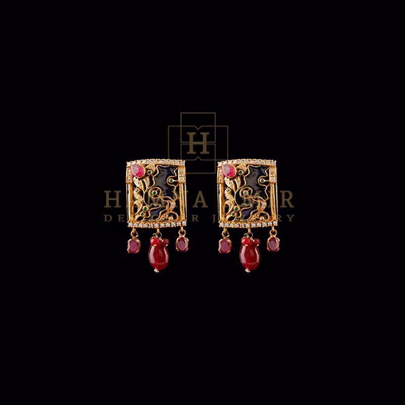 Picture of Minakari choker earrings